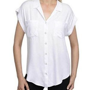 Jachs Girlfriend | Quinn White Button Down Top